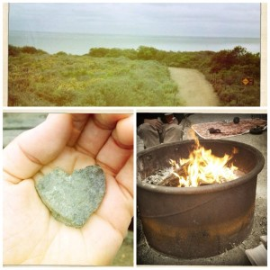 rock heart photo montage