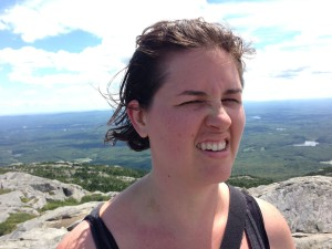 on top of a mountain in new hampshire--literally and metaphorically.